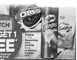 Oreos / Goldfish / Pringles