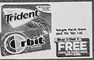 Trident / Tic Tac Single Pack Gum