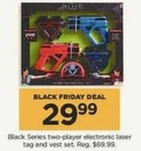 Black Series Electronic Laser Tag and Vest Set