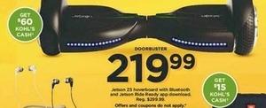 Jetson 25 Hoverboard + $60 Kohl's Cash
