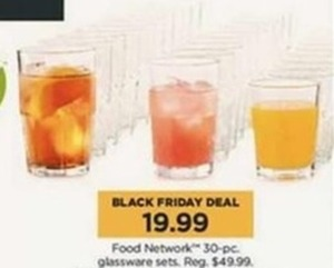 Food Network 30pc. Glassware Sets