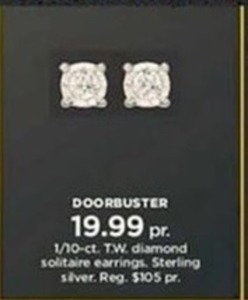 1/10-ct. T.W. diamond solitaire earrings