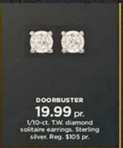 1/10-ct. T.W. diamond solitaire earrings