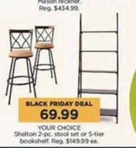 Shelton 2-pc. Stool Set or 5-tier Bookshelf