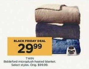 Biddeford Microplush Heated Blanket Twin size