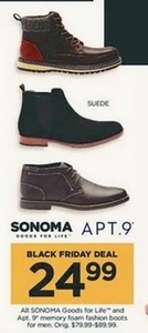 Sonoma Goods for Life and Apt 9 Fashion Boots for Men
