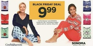 Sonoma Goods for Life Microfleece Folded Pajama Sets for Women