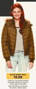 J2 By Jou Jou Puffer Bomber and Fleece Jackets