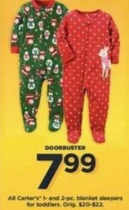 Toddler Carter's Blanket sleepers