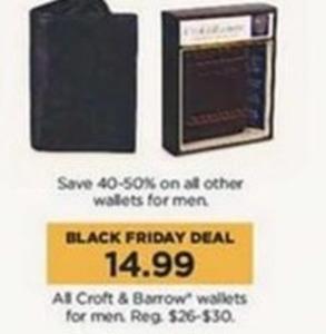 All Croft & Barrow Men's Wallets