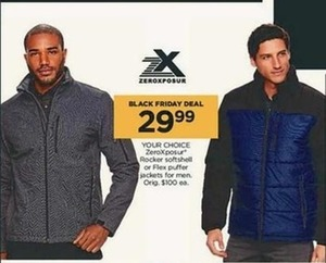 Men's ZeroXposur Rocker Softshell or Flex Puffer Jackets