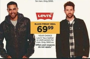Men's Levis Faux Leather or Cloth Jackets