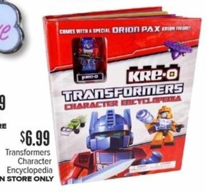 Transformers Character Encyclopedia In-Store Only