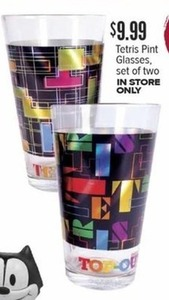 Tetris Pint Glasses - Set of Two