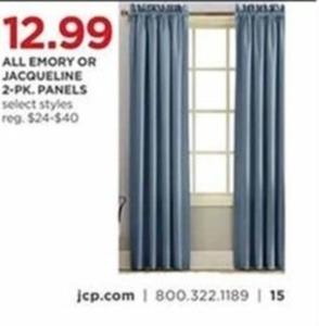 All Emory Or Jacqueline 2-Pk. Panels Select Styles