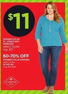 St. John's Bay Women's Plus Sweater