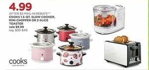 Cooks 1.5Qt Slow Cooker After Rebate