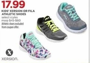 Select Kids' Xersion Or Fila Athletic Shoes