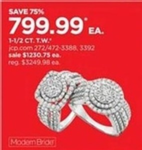 Select Modern Bride 1-1/2 CT. T.W. Diamond Rings