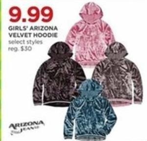 Girls' Arizona Velvet Hoodie