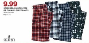 Stafford Microfleece or Flannel Sleep Pants