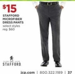 Stafford Men's Microfiber Dress Pants