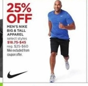 6304453edca Men s Nike Big   Tall Apparel - 25% Off at JCPenney on Black Friday