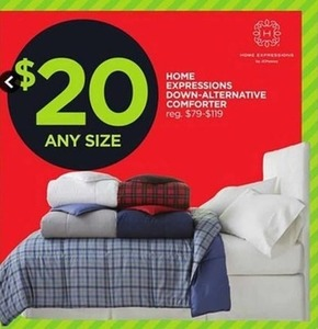 Home Expressions Down-Alternative Comforter Any Size