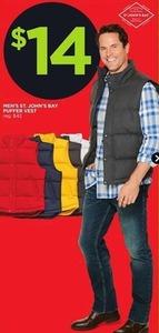 St. John's Bay Men's Puffer Vest