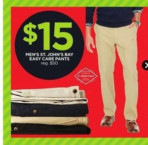 Men's St. John's Bay Easy Care Pants