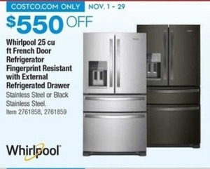 Whirlpool 25 Cu. Ft. French Door Refrigerator w/ External Drawer