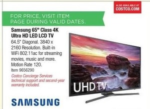 "Samsung 65""4K Ultra HD LED LCD HDTV"