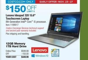 Lenovo Ideapad 320 15 Touchscreen Laptop - Intel Core i5