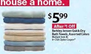Berkley Jensen Quick-Dry Bath Towels