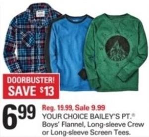 Your Choice Bailey's Pt. - Boy's Flannel, Long-Sleeve Crew or Long-Sleeve Screen Tees