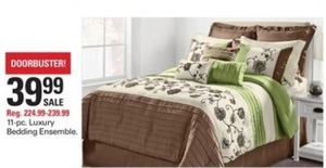 11 pc Luxury Bedding Ensemble
