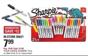 Sharpie Fine 21ct Value Pack