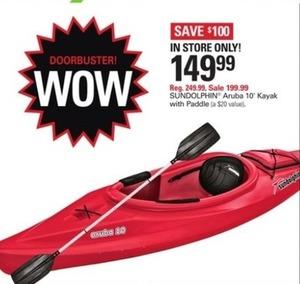 Sundolphin Aruba 10' Kayak w/ Paddle