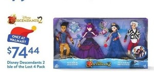 Disney Descendants 2 Isle of the Lost 4 Pack