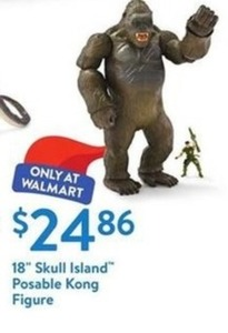 "18"" Skull Island Posable Kong Figure"