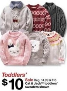 Cat & Jack Toddlers' Sweaters