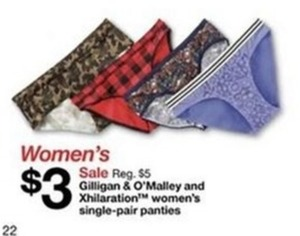 Gilligan & O'Malley Women's Single-Pair Panties