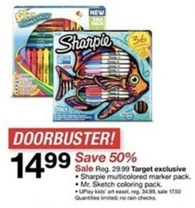 Target Exclusive Sharpie Multicolored Marker Pack