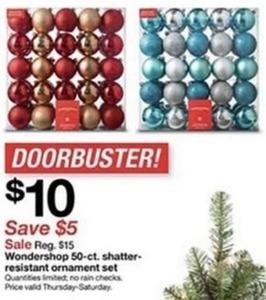 Wondershop 50-ct. Shatter-Resistant Ornament Set
