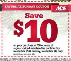 $10 Off $50+ (11/25 - 11/26)