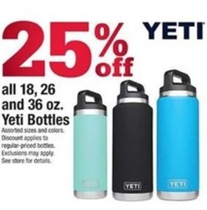 All 18, 26 and 36 Oz Yeti Bottles