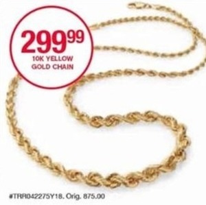10k Yellow Gold Chain