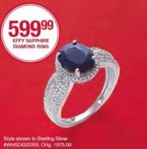 Efft Sapphire Diamond Ring