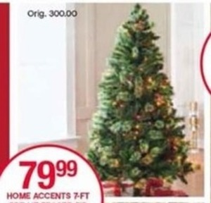 Home Accents 7-ft. Pre-Lit Fraser Fir Tree