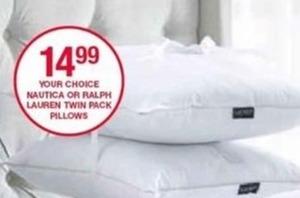 Nautice or Ralph Lauren Twin Pack Pillows